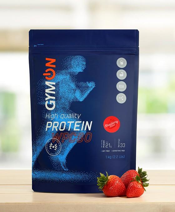 Strawberry flavoured protein shake